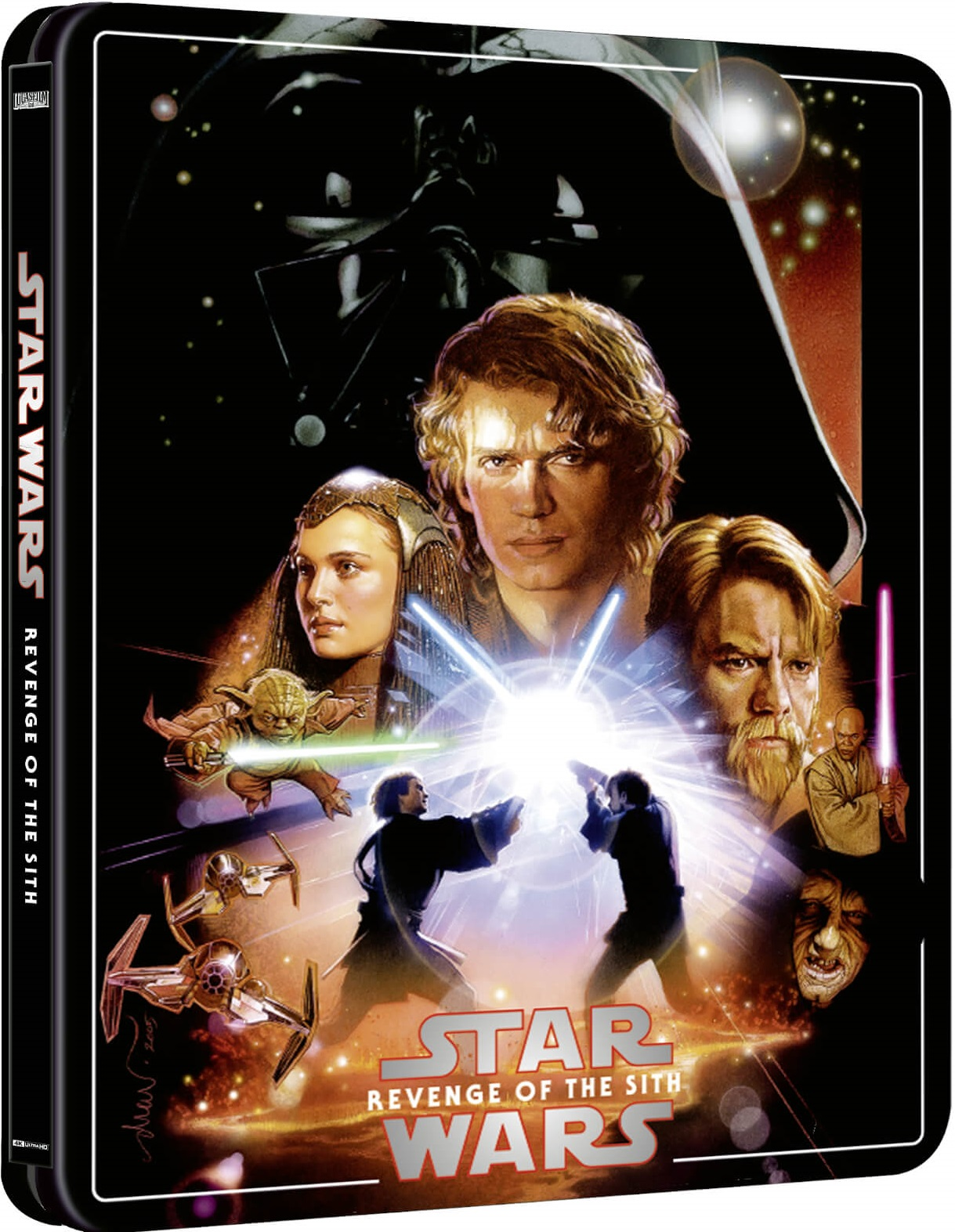 Sci Fi Prequel Trilogy Closer Star Wars Episode Iii Revenge Of The Sith Is Getting A Zavvi Exclusive 4k Steelbook Steelbook Blu Ray News